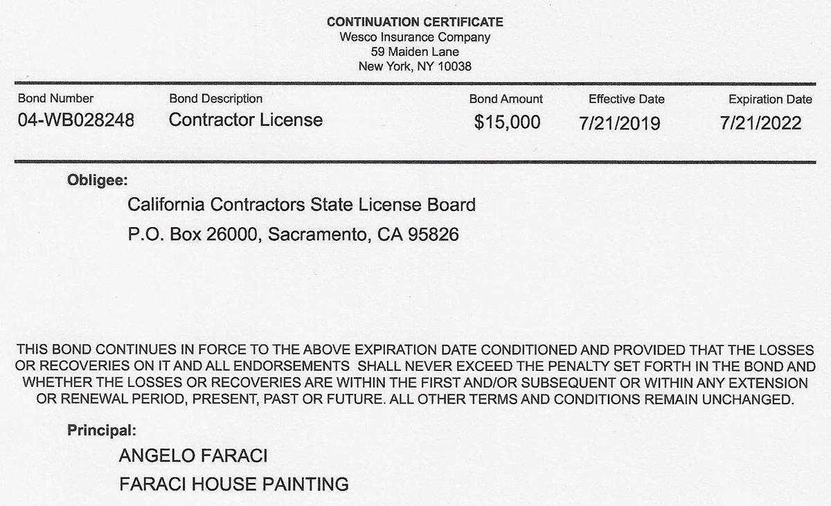 Contractor Bonded