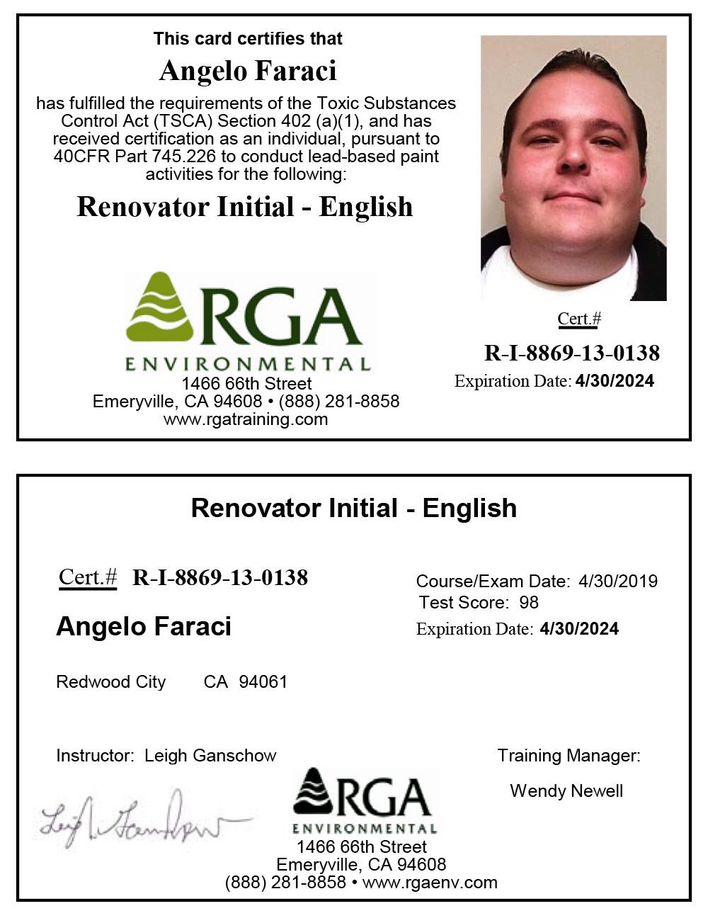 LRRP Certification