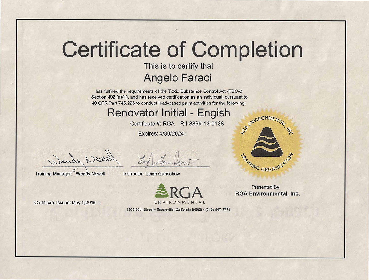RGA Certification